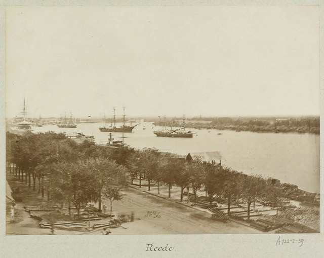 Ships on the port of Saigon 1888