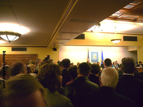 I have never seen a committee allow this before today: Standing room only in Room 411 S., Wisconsin Capitol Building