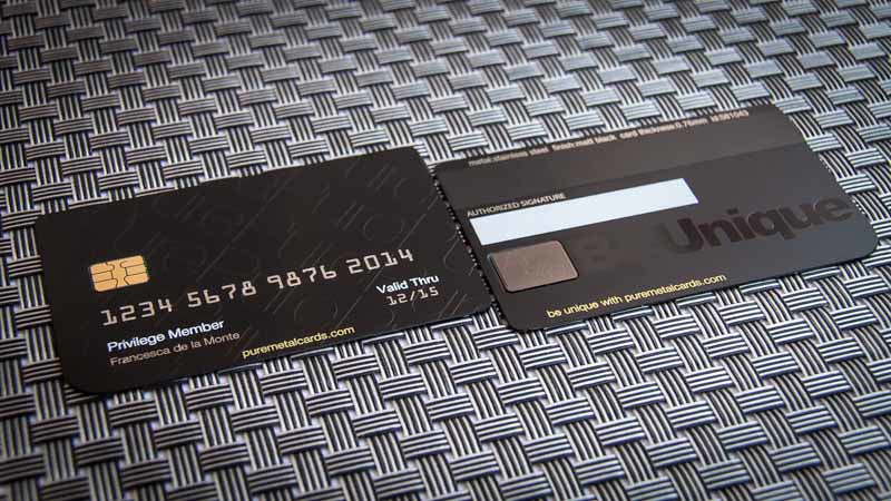 Pure Metal Cards - VIP black metal credit card