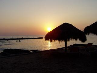 Image of Playa San Juan. sunset beach mexico olympus caribbean cozumel c720uz olympusc720uz