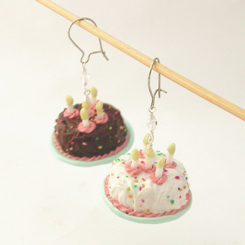 whole birthday cake earrings
