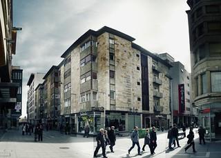 """de la sota, edificio olmedo en Zamora, """"fotoarrejuntaje"""" >IMGP6687"""