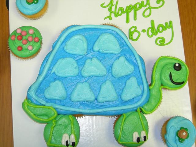 Turtle cupcake cake | Flickr - Photo Sharing!