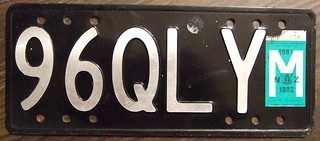 NEW ZEALAND 1981/82 Motorcycle plate