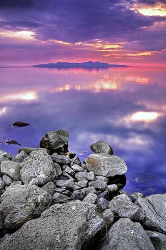 sunset lake digital landscape utah greatsaltlake d300 stansburyisland greatsaltlakestatemarina