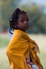 So cute... Child girl portrait, Goba, Mozambique, Africa