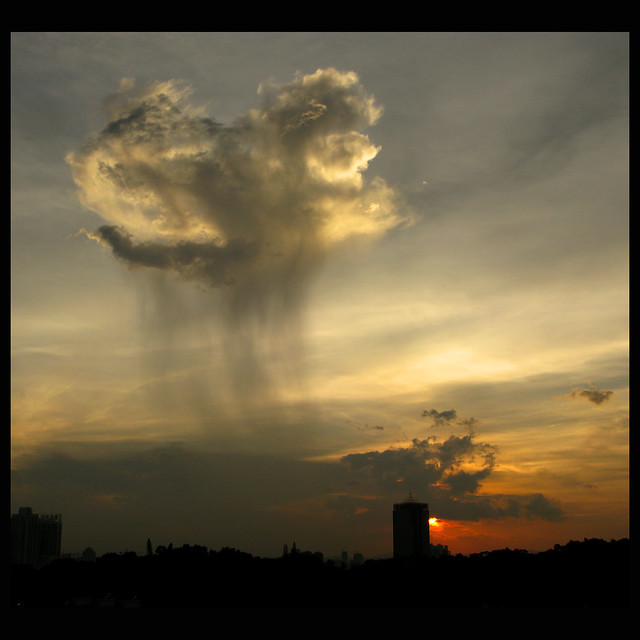 The Lone Raincloud riding into the Sunset