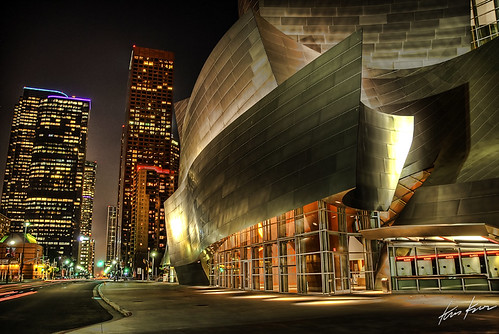 california ca usa architecture modern night photoshop print photography la hall losangeles los high concert nikon downtown shot dynamic angeles hill gehry disney canvas bunker socal kris d200 walt 2008 range hdr available kkg cs3 photomatix kros kriskros 5xp fururistic kk2k kkgallery