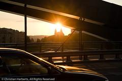 King Mindaugas Bridge and Sunset
