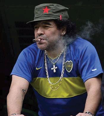 O Maradona que nunca falará português