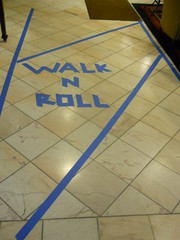Accessibility lane at WisCon, photo by sasha_feather, CC BY-NC-SA