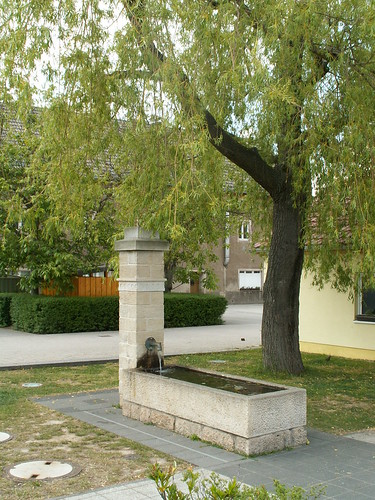 Brunnen in Kreischa im Landkreis Sächsische Schweiz-Osterzgebirge in Sachsen, südlich von Dresden am Lockwitzbach