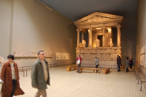 Temple & statues from the Elgin Marbles at the British Museum by Chris Devers