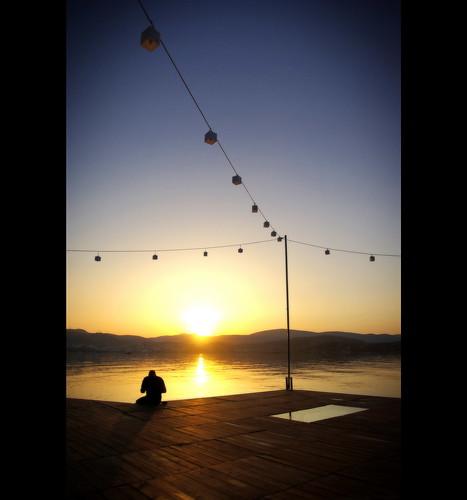 blue sunset sky sun silhouette yellow jaune turkey soleil quiet bleu turquie ciel bodrum calme leverdesoleil tranquille aficionados