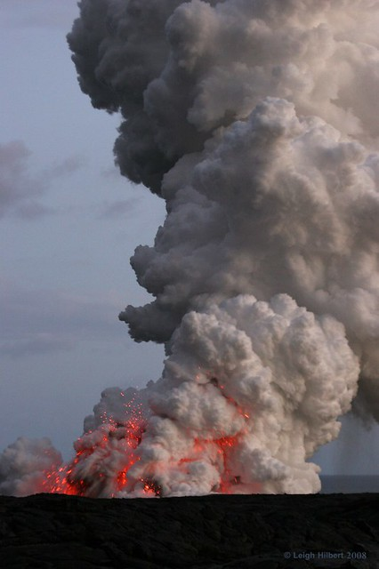 Explosive Lava Plume - Island of Hawaii