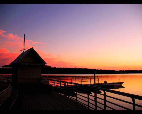 pink sunset lake nature water silhouette landscape boats dock purple northcarolina raleigh lakecrabtree boathouse crabtree chrysti