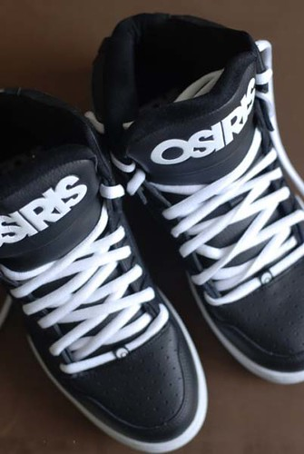 Osiris Skate Shoes Black And White