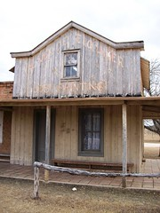 One of the buildings at the movie set town of Alamo Village, TX - alamovillage046x