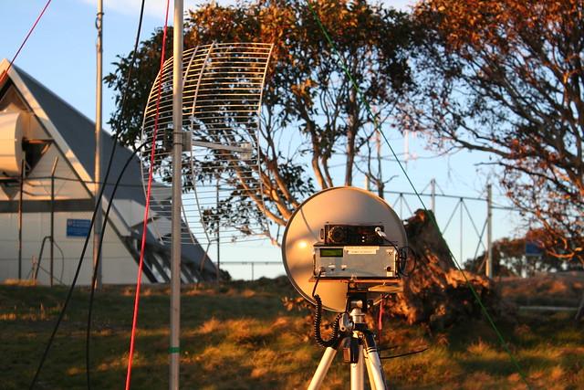 10 GHz amateur radio at Mt Ginini, Australia