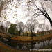 Fisheye View of Riga Canal - Latvia