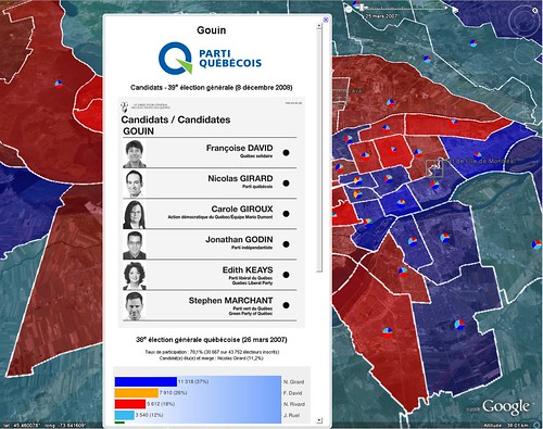 google earth quebec provincial elections map smurfmatic. Black Bedroom Furniture Sets. Home Design Ideas