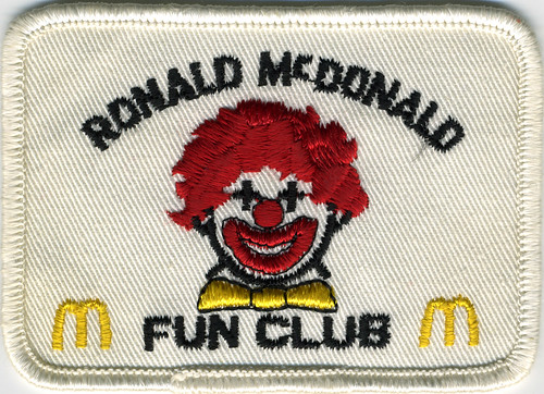 McDonalds - Ronald McDonald Fun Club Patch - 1969