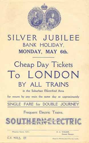 """Southern Electric - Silver Jubilee cheap tickets"" - leaflet issued by the Southern Railway, 1935 by mikeyashworth"