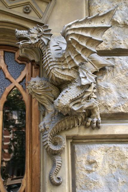 Torino corso francia casa dei draghi palazzo della vittoria von gottardo gussoni art nouveau - La casa della lampadina torino ...