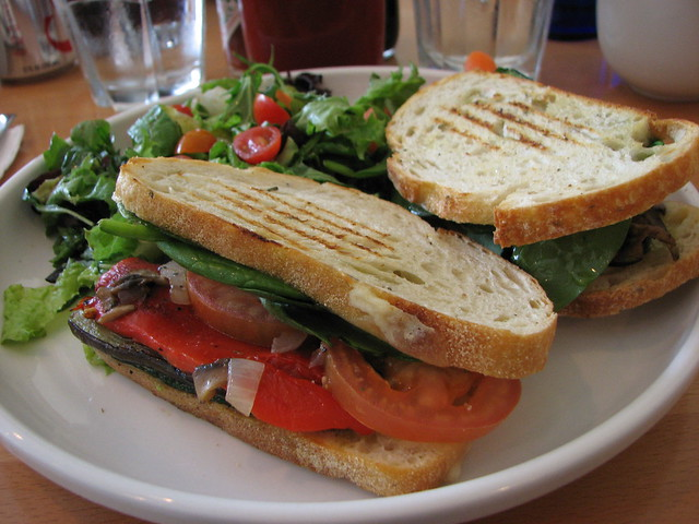 Grilled Vegetable Panini, Cafe Kaila | I finally ordered som ...