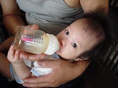 嬰兒使用不含BPA的奶瓶。(Glory Chan攝)