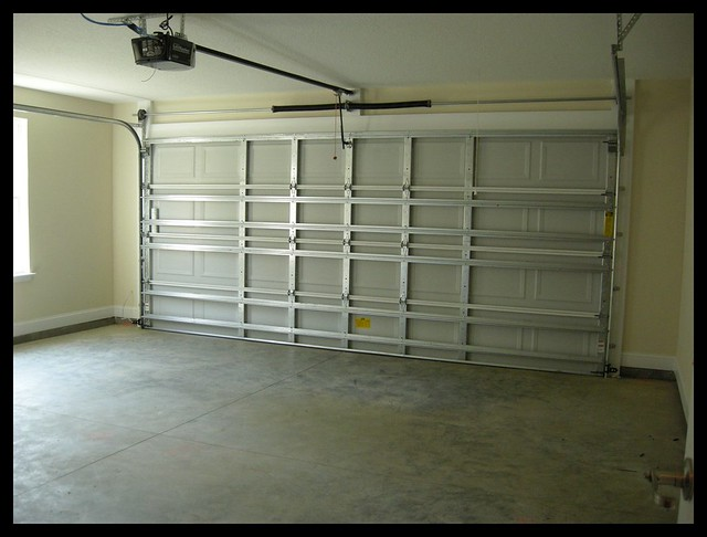 Two car garage with garage door opener flickr 2 car garage doors