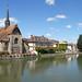 L'église Saint-Maurice et l'Yonne à Sens ©dalbera