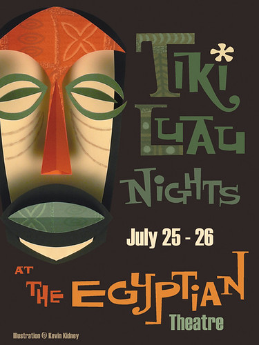 2008 Tiki Luau at the Egyptian Poster - Kevin Kidney