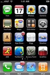 What's on your iPhone home screen? by Tony Buser, on Flickr [used under Creative Commons license]