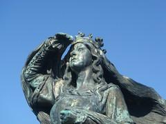 Sommerferien 2008 - Statue von Königin Dagmar beim Schlosshügel Riberhus