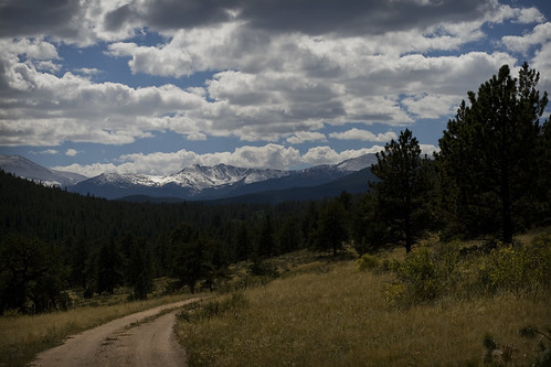 road sky mountains pine clouds forest canon rebel colorado dirt 50mmf14 canon50mm canon50mmf14 pingree xti 400d