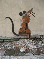 Banksy Rat Plaster