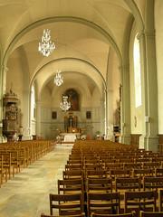 Intérieur de l'église de Lure