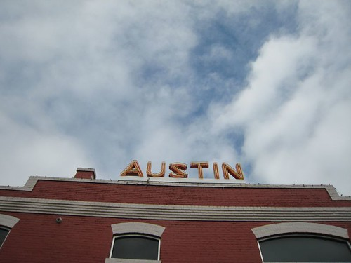 austin, sky, clouds, red brick, old building IMG_6763