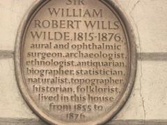 Photo of William Robert Wills Wilde brown plaque