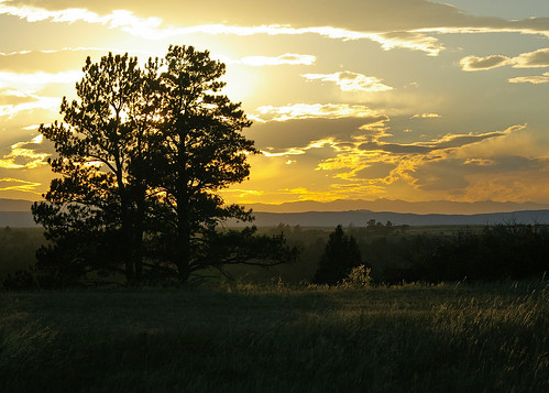 sunset clouds colorado day clear castlewoodcanyon