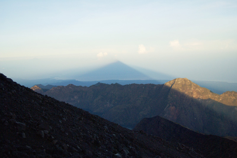 The shadow of the Rinjani