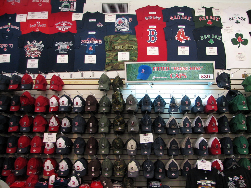 buy popular 63c95 f88e8 Boston Red Sox Team Store Outside Fenway Park - Boston, MA ...