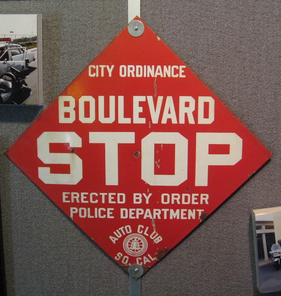 Boulevard Stop Sign Vintage