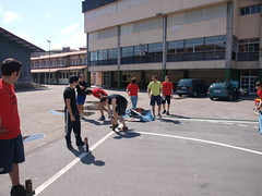 marathon(0.0), athletics(0.0), track and field athletics(0.0), endurance sports(0.0), sport venue(0.0), running(0.0), streetball(0.0), stadium(0.0), athlete(0.0), street sports(1.0),