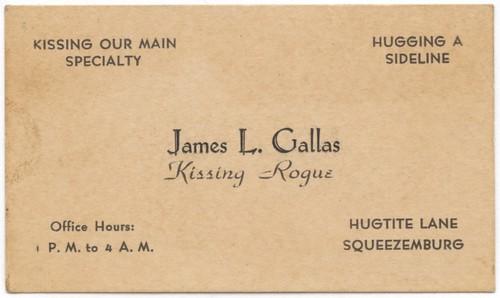 James L. Gallas, Kissing Rogue