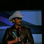 Brad Paisley accepting award for Top Male Vocalist