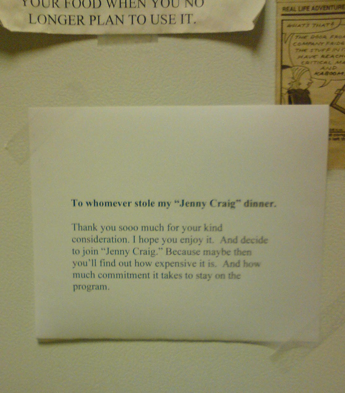 office notice about cleaning out your fridge   just b.CAUSE - photo #17