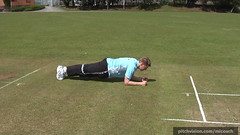 Core training for cricket: Planks