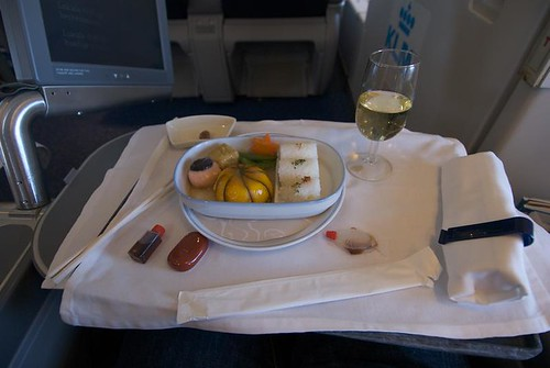 KLM Boeing 747 Business Class Lunch.jpg